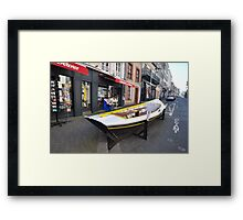 Granville, France 2012 - Reading Boat Framed Print