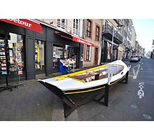 Granville, France 2012 - Reading Boat Photographic Print