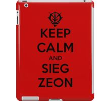 Keep Calm and Sieg Zeon iPad Case/Skin