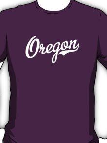 Oregon Script White T-Shirt