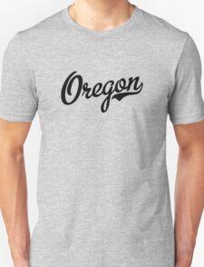 Oregon Script Black T-Shirt