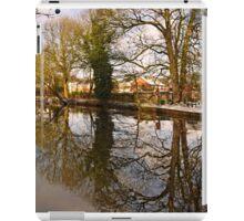 Trees Beside The Wintry Rolleston Pond iPad Case/Skin
