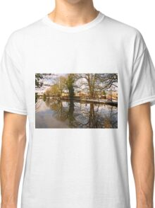 Trees Beside The Wintry Rolleston Pond Classic T-Shirt