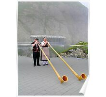 Alphorn Player, Pilatus Switzerland Poster