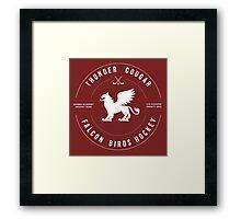 Thunder Cougar Falcon Birds Hockey Framed Print