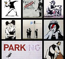 BANKSY MONTAGE 01 by OOMPHDESIGNPRIN