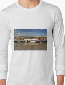 Whitby Lower Harbour and the West Cliff Long Sleeve T-Shirt