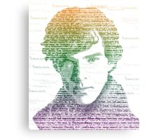 Sherlock Quote Rainbow Metal Print