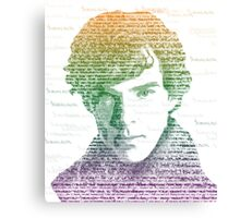 Sherlock Quote Rainbow Canvas Print