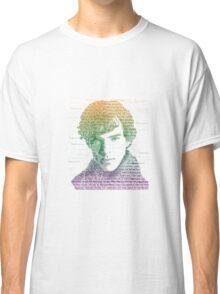 Sherlock Quote Rainbow Classic T-Shirt