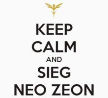 Keep Calm and Sieg Neo Zeon Baby Tee