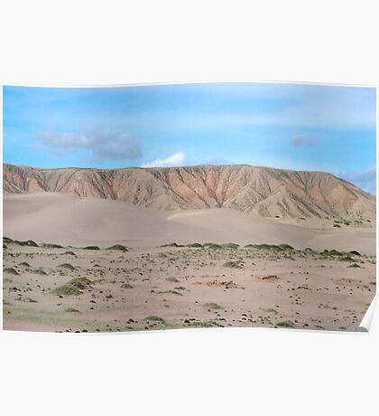 Qinghai Desert Sand Mountain, China Poster