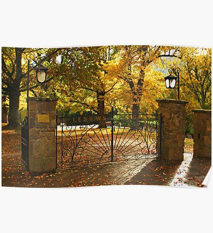 Memorial gates at Bright Poster