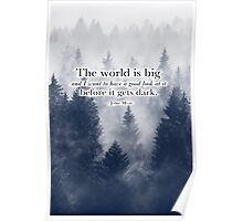 """The World is Big"" Travel Quote Poster"