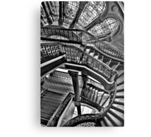 Old Style Workmanship  (Monochrome Version) - The Grand Staircase, Queen Victoria Building - The HDR Experience Metal Print