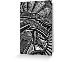 Old Style Workmanship  (Monochrome Version) - The Grand Staircase, Queen Victoria Building - The HDR Experience Greeting Card