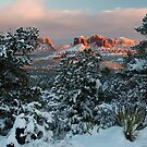 Sedona, Az - Frosty Sunset by Candy Gemmill