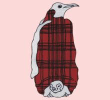 Tartan Penguin One Piece - Short Sleeve