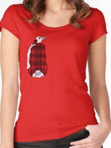Tartan Penguin Women's Fitted Scoop T-Shirt