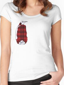Tartan Penguin Women's Fitted Scoop T-Shirt