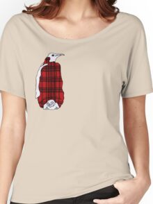 Tartan Penguin Women's Relaxed Fit T-Shirt