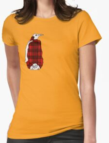 Tartan Penguin Womens Fitted T-Shirt