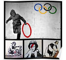 BANKSY MONTAGE 02 Poster