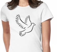 Flying dove Womens Fitted T-Shirt