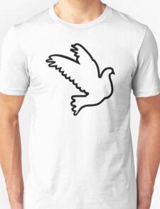 Black flying dove Unisex T-Shirt