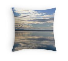 Blue Sky Above, Blue Sky Below Throw Pillow
