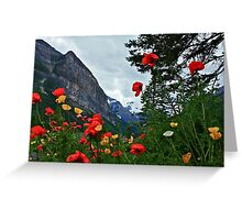 Peaks and Poppies Greeting Card