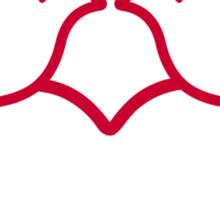 Doves red heart Sticker