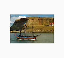 Bark Endeavour Passing Whitby East Cliff Unisex T-Shirt