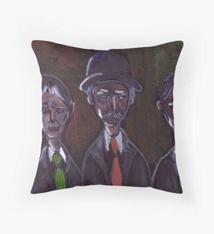 A family portrait Throw Pillow