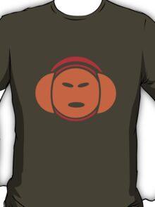 Headphone Idol (orange print) T-Shirt