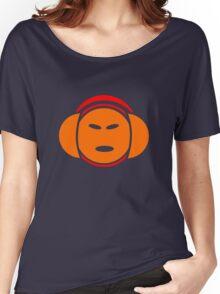 Headphone Idol (orange print) Women's Relaxed Fit T-Shirt