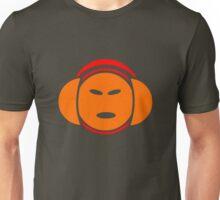 Headphone Idol (orange print) Unisex T-Shirt