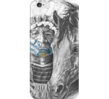 Plains Indian and Horse iPhone Case/Skin