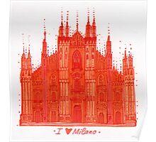 Orange Milan Poster