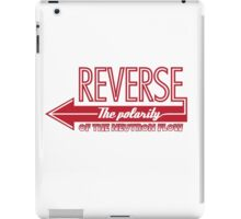 Doctor Who Typography - Reverse The Polarity! iPad Case/Skin