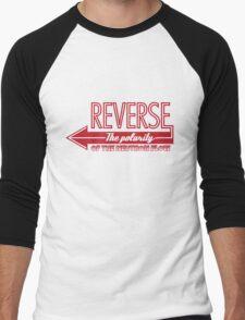 Doctor Who Typography - Reverse The Polarity! Men's Baseball ¾ T-Shirt