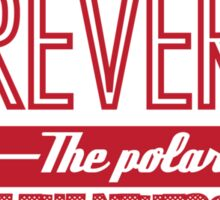 Doctor Who Typography - Reverse The Polarity! Sticker