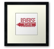 Doctor Who Typography - Reverse The Polarity! Framed Print
