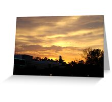 Sunset In The City Greeting Card