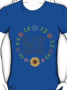 Flower Crown Quote T-Shirt