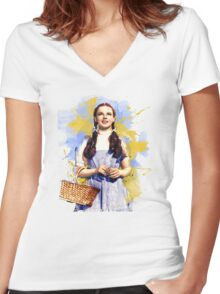 Dorothy Wizard of Oz Women's Fitted V-Neck T-Shirt
