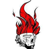 Hip hop graffiti skull by kobalt7