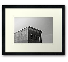 Abstract Black and White Building Photograph Print Framed Print