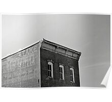 Abstract Black and White Building Photograph Print Poster
