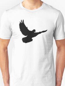 Black flying dove T-Shirt